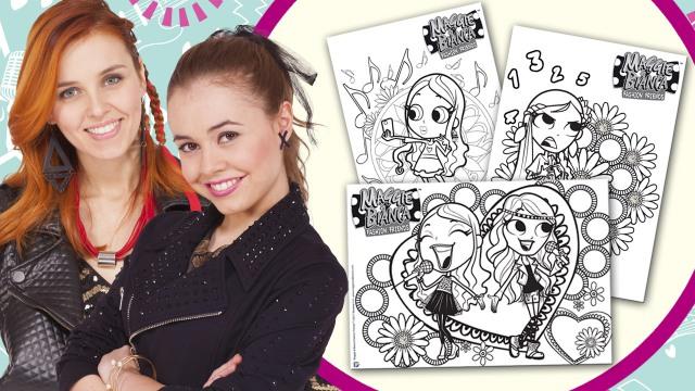 Doodle Da Colorare Scaricabile Maggie Bianca Fashion Friends